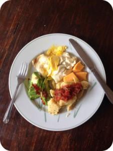 tee zum frühstück um abzunehmen
