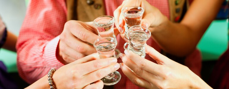Alkohol bei der Verdauung